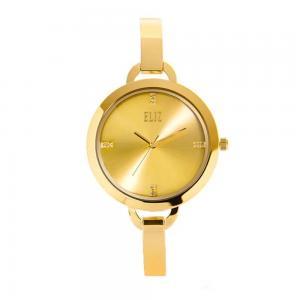 Eliz Splendeur  Womens Stainless Steel Gold Plating  Wrist Watch ES8539L2GCG