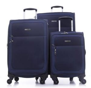 Parajohn Polyester Soft Trolley Luggage Set Navy Blue, PJTR3109N