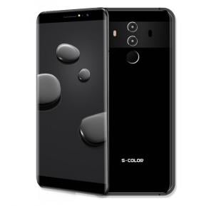 S-Color Mate 10 Pro 4G Smartphone, 5.8 Inch Display, Android OS, 3RAM, 32GB Storage, Dual SIM, Dual Camera, With Face ID - Black