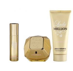 Lady Million Edp set 80ml+75ml B/L+10ml mini edP for Women by Paco Rabanne, 12271