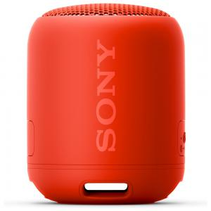 Sony Waterproof Portable Bluetooth Speaker SRSXB12, Red