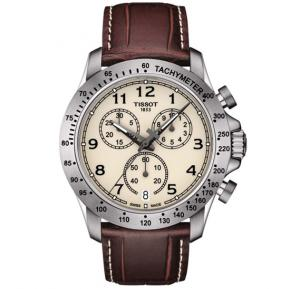 Tissot V8 Chronograph Ivory Dial Mens Watch