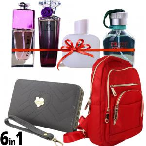 6 In 1 Veyes You Will always be My love Perfume gift set, 25ml x 4 Piece,Fashionable Backpack For Women Red And Forever Young Short And Slim Womens Fashion Wallets Assorted Colors