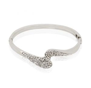 S Fashion Crystal Stainless Steel Bracelet