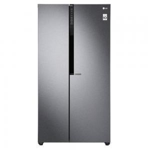 LG Side By Side Refrigerator GR-B257KQDV, Dark Graphite
