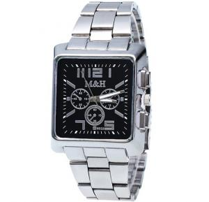 Generic Business Quartz Watches Top Brand Luxury MH Mens Wrist Watch - Black