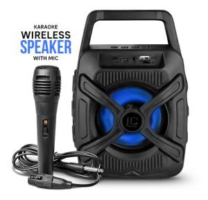 Kuku LN32 Small Karaoke System Wireless Stereo Super Bass Portable Bluetooth Speaker With Micro SD/TF And USB Support Free Mic