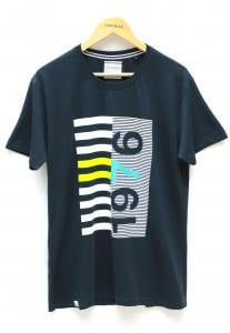 Address T-Shirt Blue Round Neck
