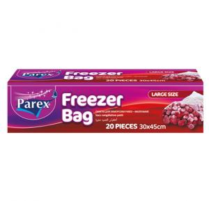 Parex 2107549 Freezer Bags - Large 20 Pieces Regular