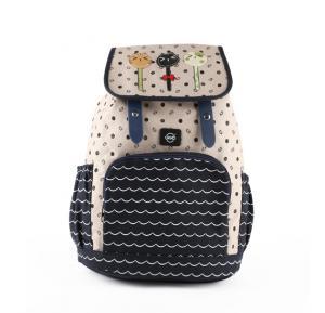 Okko  sports printed backpack beige-GH835-OK36407