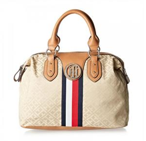 Tommy Hilfiger Tote Bag for Women - Canvas, Brown,TH/TB-CB