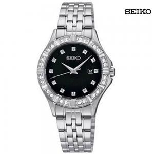 Seiko Ladies Analog Stainless Steel Watch, SXDF09P1