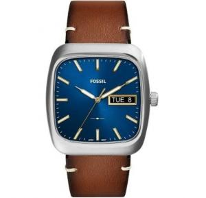 Fossil Analog Leather Casual Watch For Men - FS5334