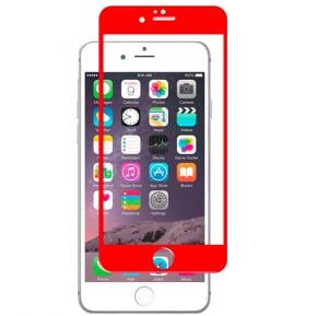 Apple compatible 2 in 1 protective glass Kit for Iphone 7 Plus Red