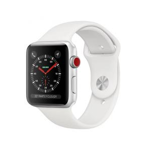 Apple Watch Series 3 MTGR2  42mm GPS + Cellular  Silver Aluminum with White Sport Band