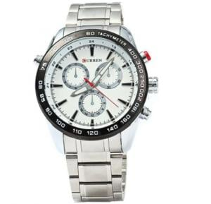 Curren Quarz Watch Full Stainless Steel Silver and White Curren 8189
