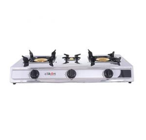 Clikon CK4253-N Triple Burner Stainless steel Gas Stove
