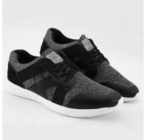 Mokun Lace Up Bandage Design Leather Sneakers Grey For Men - 20305 - 44