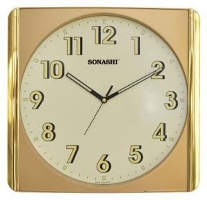 SONASHI SWC-808S WALL CLOCK 31.5cm x 30cm, Silent Sweep Movement