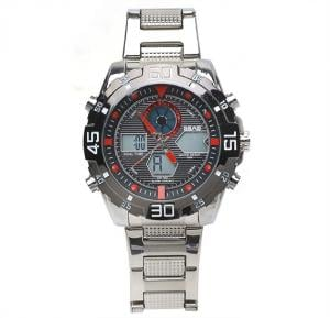 Analog Digital stainless steel mens watch,SBAO S-9011