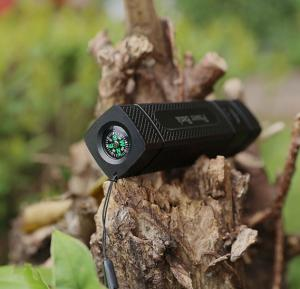 Multifunctional 2600 mah Power Bank With Compass And LED Flashlight