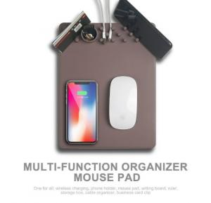 Wireless Qi Charging Multi-function Holder Fast Charger Anti-Slip Mouse Pad