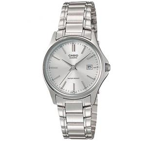 Casio Analog Watch For Women, Silver Stainless Steel Band-LTP-1183A-7A