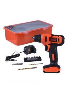 Black + Decker LD12SP-B5 Electric Drill Driver With Kitbox Black/Orange