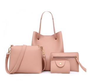 4 Pcs Women Hand Bag Set WB19-01 - Pink