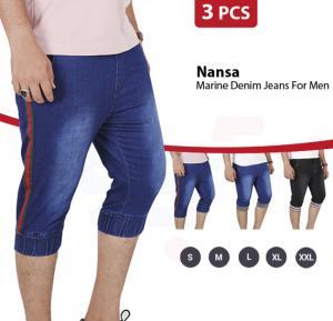 3 In 1 Bundle Offer Buy Nansa Hot Marine Denim Jeans Blue - 30 Inch And Get Denim Jeans Light Blue And Denim Jeans Black - 30 Inch Free