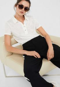 Springfield Fashion Womens T-Shirt Color Plain White Semi Sleeve