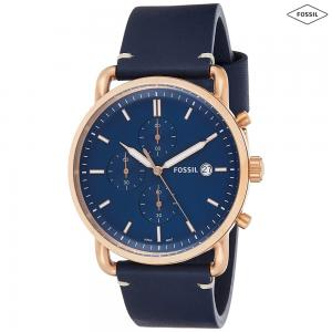 Fossil Analog Blue Dial Mens Watch, FS5404