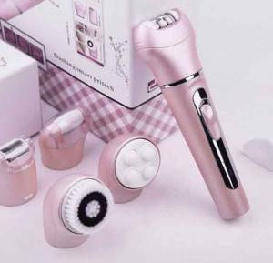 DSP 5 in 1 Rechargeable Facial Deep Claening brush Cleanser Multyfunction Electric Women Shaver Epilator Shaving Bikini Trimmer
