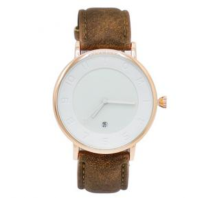 Tomi Analog Quartz Mens Watch T085, White Coffee