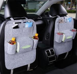 Car Storage Bag Organizer Universal Back Seat Bags Backseat Trunk Travel Holder Box Pockets Protector, IN30 Gray