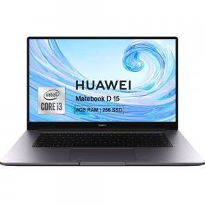Huawei MATEBOOK D BOHRB-WAI9A Laptop 15.6 inch FHD Display Intel Core i3 Processor 8 RAM 256GB SSD Storage Intel UHD Graphics, Space Grey
