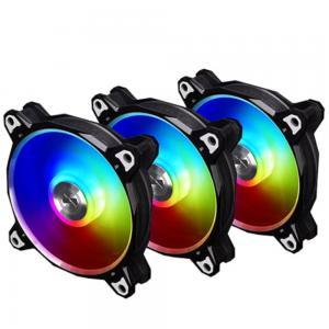 Lian Li BORA-DIGITAL-S Bora Digital ARGB Cabinet Fan Triple, Black