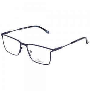 Lacoste L2262 Rectangle Blue Eyeglasses For Unisex Crystal Lens, Size 53