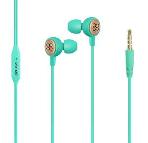 Promate Earphones, Lightweight In-Ear HD Stereo Noise Cancelling Headphones, Flano Green