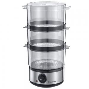 Russell Hobbs Food Collection Compact Food Steamer Brushed Stainless Steel, 14453