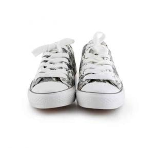 OKKO flower pattern girls sneaker - GH-826, Grey size-39