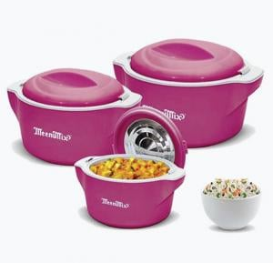 Meenumix Plaza Casserole 3Pcs Set.2000/4000/6000 ML, PL3PJB