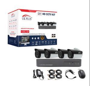 UK Plus 1080P 4CH Home Security Camera System, Surveillance DVR DIY kit with 4 Bullet Camera/Indoor Camera