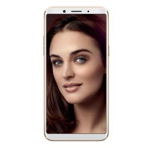 Oppo F5 4G Smartphone, 6 Inch Display, Android OS, 4GB RAM, 32GB Storage, Dual SIM, Dual Camera, Face Unlock - Gold