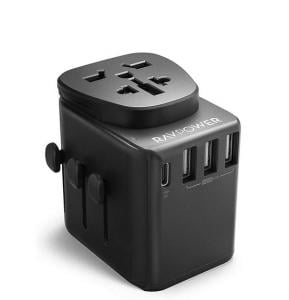 RAVPower Universal Travel Charger Black, RP-PC099