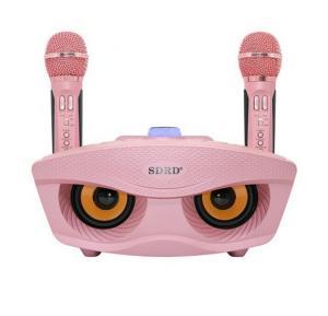 Bluetooth Karaoke Speaker SD-306   Strange Designs Give 2 Microphones  color-Pink