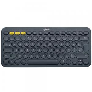 Logitech K380 Multi-Device Bluetooth Keyboard, French, Dark Grey