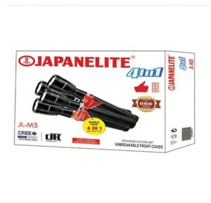 Japanelite 4 in 1 Rechargeable LED Flashlight JL-M3