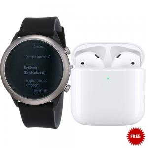 Fossil FTW4019 Smartwatch For Women, Black Get Free Apple AirPods 2 With Charging Case, White