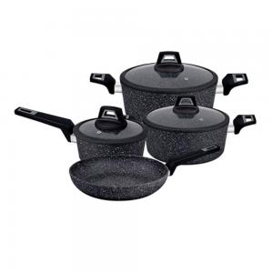 Royalford 7 Piece Chef Art Aluminum Cookware Set